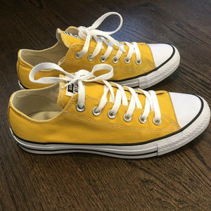 Converse All Star Yellow Low Rise Sneakers Sz 7/9